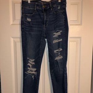 American Eagle Size 6 Long Ripped HighRise Jegging